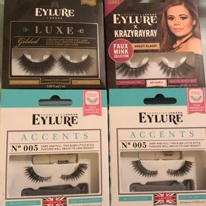 Eylure Lashes, 4 sets, BNIB